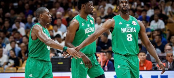 Nigerian men's basketball team, D'Tigers, [PHOTO CREDIT: Official Twitter account of D'Tigers]