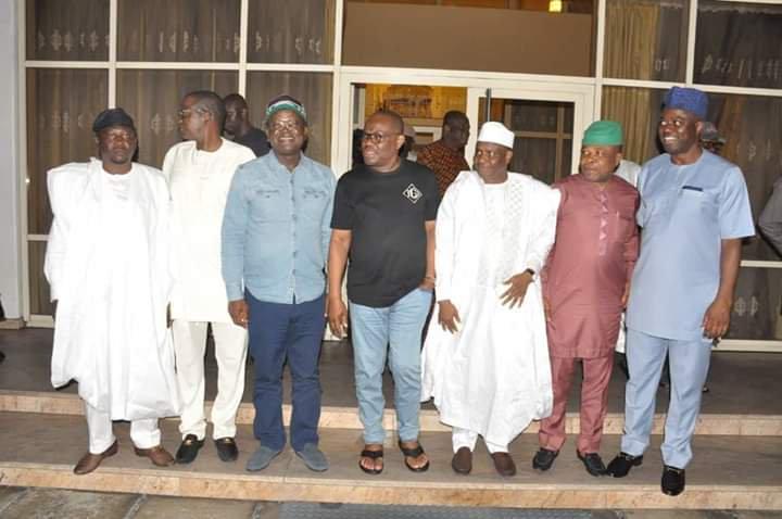 PDP Governors visit Rivers State governor, Nyesom Wike, [PHOTO CREDIT: Gov N.E. Wike Information]