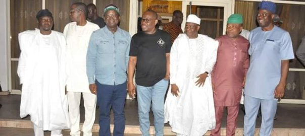 PDP Governors visit Rivers State governor, Nyesom Wike, [PHOTO CREDIT: Gov N.E. Wike Information]