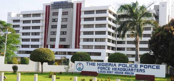 "Louis Edet House, Nigeria police Head Quaters Abuja, Nigeria [Photo"": NPF]"
