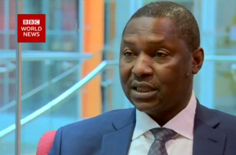 Abubakar Malami ... The group wants the federal government to stop release of funds to the current Bayelsa government