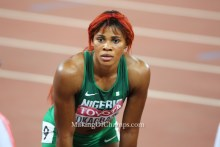 Blessing Okagbare is out