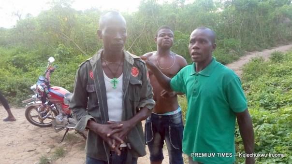 Angry community youths at Agu Ekwegbe
