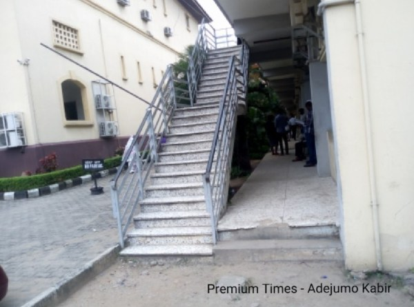 Poor Stairs leadind to courtrooms in Igbosere High Court