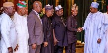 President Buhari and Elected Officers of the Trade Union Congress of Nigeria (Photo: Official Twitter Handle)
