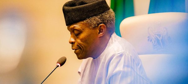 Nigeria's Vice President, Yemi Osinbajo. [PHOTO CREDIT: Osinbajo's official twitter account]