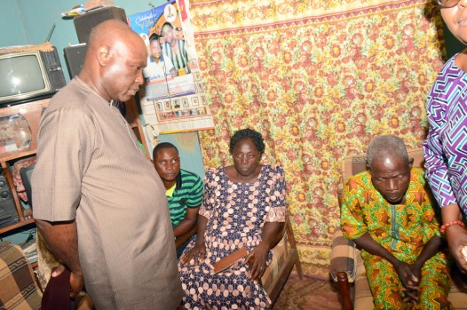L-R: Secretary to Ekiti State Government, Hon. Biodun Oyebanji; consoling Mr and Mrs Adedayo Dada; parents of the late kehinde Dada, when Ekiti State Government delegation paid a condolence visit to the family of the slain student of the Federal University, Oye-Ekiti; in Usi-Ekiti…on Friday