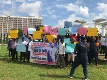 The protest on the killing of a Nigerian in China