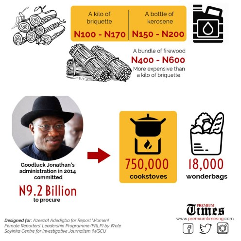 INFOGRAPH: Usage of firewood and carcoal to cook. [CREDIT: Adebowale Adedigba]