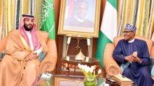 President Muhammadu Buhari meets with Saudi Crown Prince Muhammad Bin Salman on the sidelines of the Future Investment Initiative (#FII2019) in Riyadh, the Kingdom of Saudi Arabia