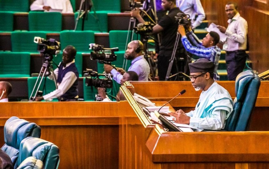 Speaker of the House of Representatives, Femi Gbajabiamila at the plenary today