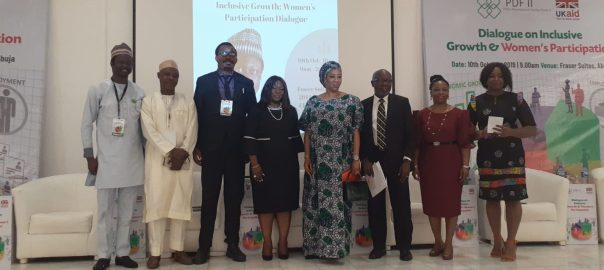 Right to Left: Simon Karu, Magaji Bala, Folarin Aluko(NBA) Chairman Abuja, Chioma Agwu and other panelist at the event