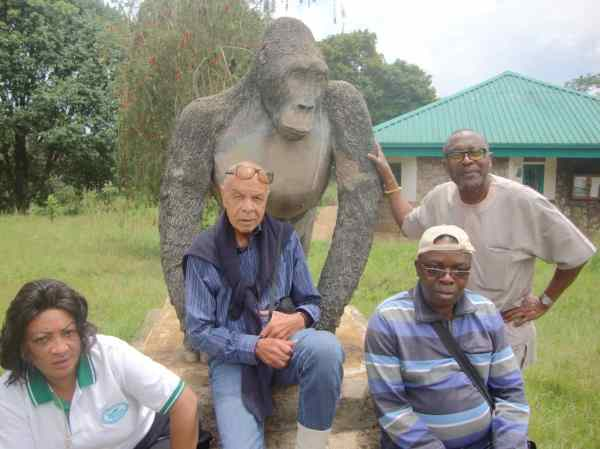 Some members of the Nigerian business community who came to the event taking out time to visit the Mountain Forest gorilla zoo in Bukavu