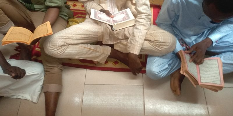 Students at the centre reciting the Quran