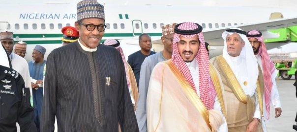 President Muhammadu Buhari arriving Saudi Arabia