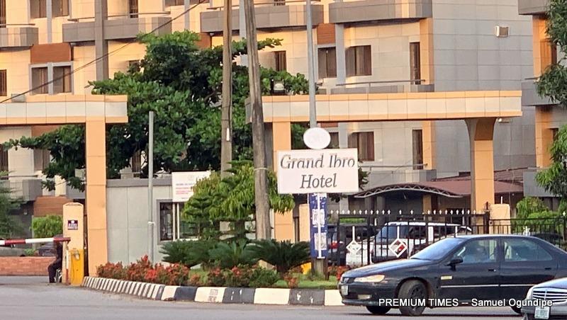 The entrance of Grand Ibro Hotel, Abuja