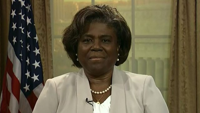 A United States diplomat, Linda Thomas-Greenfield. [PHOTO CREDIT: BBC]