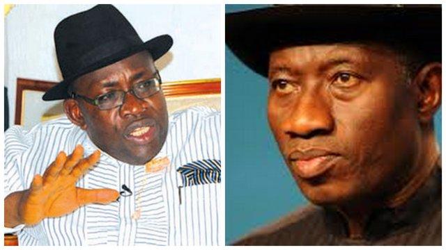 Seriake Dickson and Goodluck Jonathan
