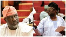 L-R Dino Melaye and Smart Adeyemi