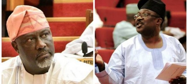 L-R Dino Melaye and Smart Adeyemi