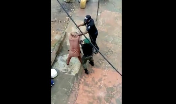 Screenshot from the assault video clip