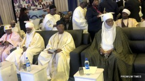 Some dignitaries have arrived at the congress hall of the Transcorp Hilton Hotel. Notable amongst the dignitaries is the Emir of Kazaure, Najib Adamu.