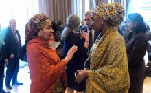 #EXCOM2019: The Deputy Secretary General United Nations, Amina Mohammed and the Minister of Humanitarian Affairs, Disaster Management and Social Development, Sadiya Umar