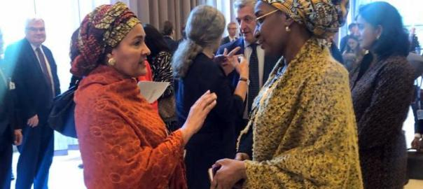 #EXCOM2019: The Deputy Secretary General United Nations, Amina Mohammed and the Minister of Humanitarian Affairs, Disaster Management and Social Development, Sadiya Umar