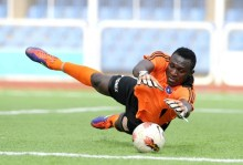 Enyimba goalkeeper Olufemi Kayode. PHOTO Credit: busybuddiesng.com