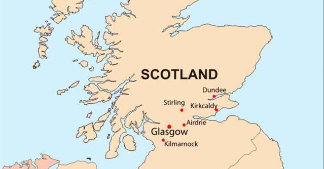 scotland on map (Photo Credit: CDC)