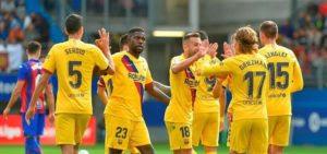 Barcas celebrate win (anews.com.tr photo)