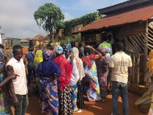 9:13am: Ogbeiba 1 Ward, Adanos house 2, 012, Okehi Local Governments, Natasha Akpoti's polling unit. Agents of the ruling APC are following voters to the voting cubicle to coerce them to thumb print for APC. They have prevented journalists from taking pictures or videos.