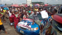 Jubilation in Yenagoa as APC supporters storm major roads