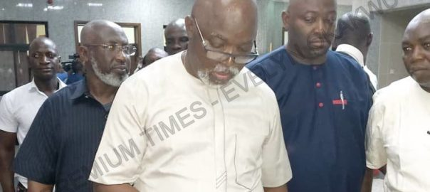 Amaju Pinnick in court (Photo Credit: Evelyn Okakwu)