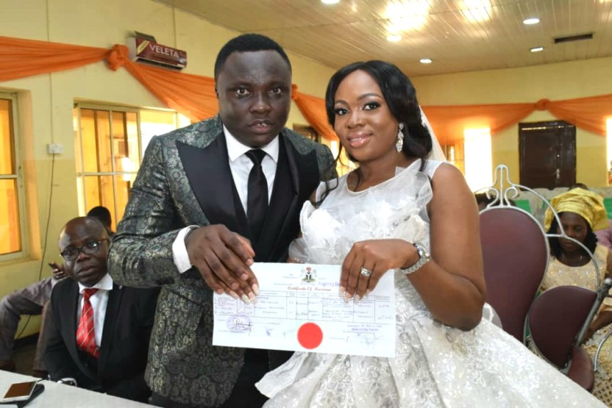 Desmond Ike and Miriam Keyamo tied the knot in Lagos over the weekend