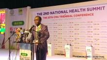 Mr Enabulele delivering his inaugural remark.