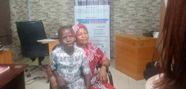 Modinat Ogunmade and her son, Segun Ezekiel