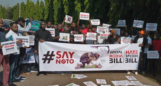 Protesters storm Lagos Assembly [PHOTO CREDIT: Ripples Nigeria]