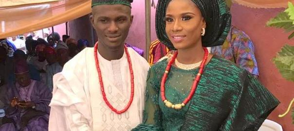 Samson Ayeni and Omolara became husband and wife after meeting in Lagos and dating for nine years.