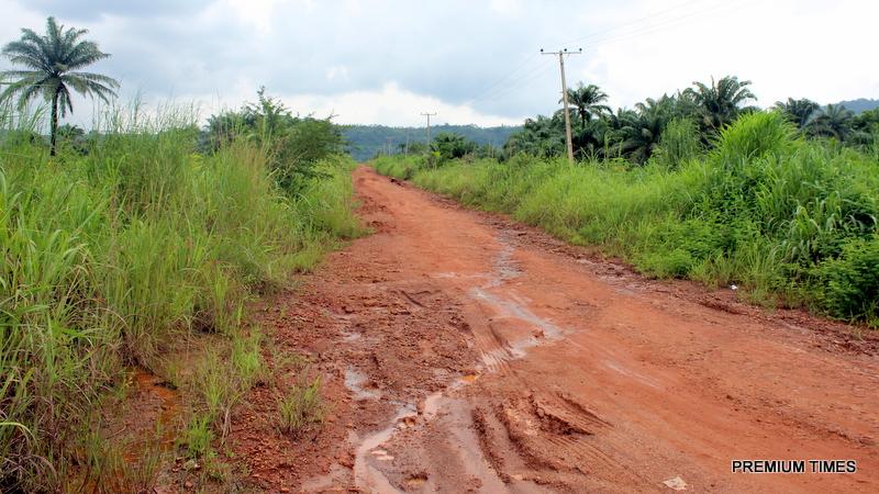 Abandoned Ugwueme erosion control project, with drainage system