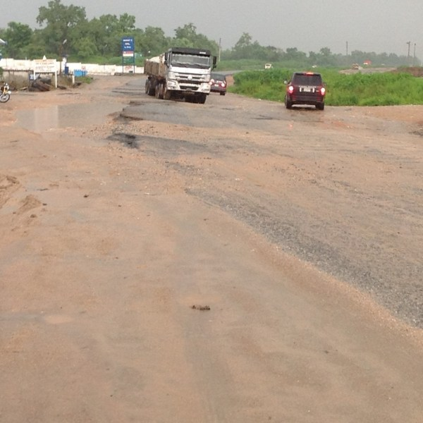 the road condition at ofunene junction