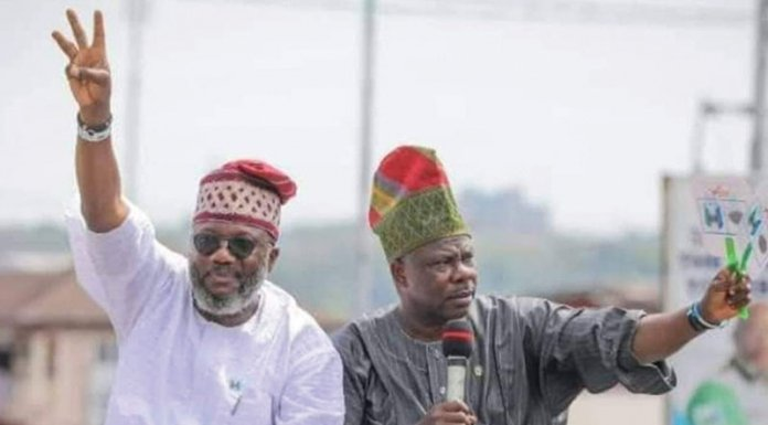 Amosun and Akinlade. [PHOTO CREDIT: THISDAYLIVE.COM]
