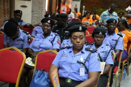 FILE PHOTO: Cross-section of Police women