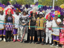 Gov. Ayade and others at the Calabar carnival