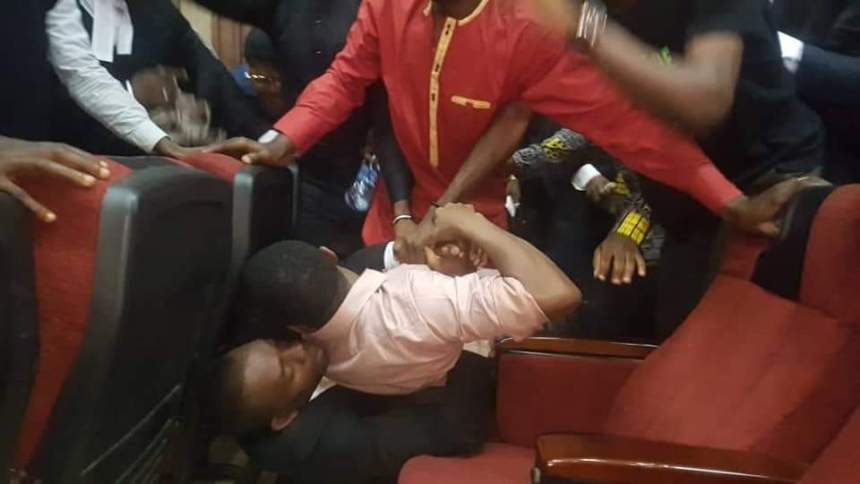 Image result for sowore's rearrest, invasion of court by dss