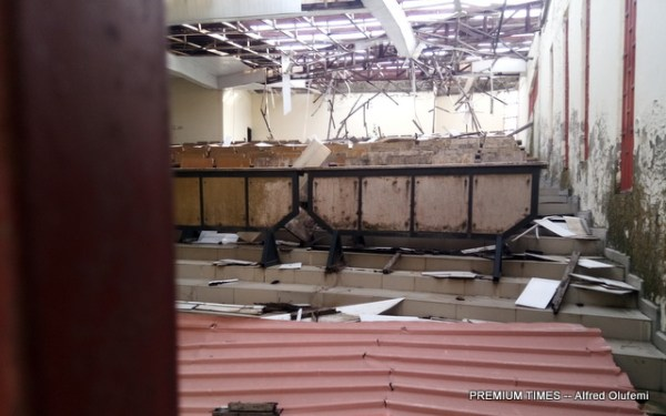 Dilapidated lecture theatre in Federal Polytechnic Offa