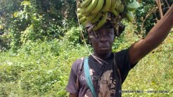 Sunday Aina, a peasant farmer whose farm was invaded by illegal miners