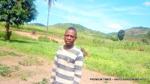 Bellow Ibrahim, Vegetable farmer at Sofo Toge.