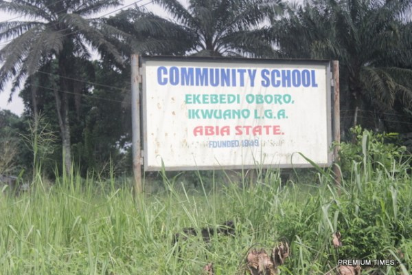 Signpost of Ekebedi Oboro Community School