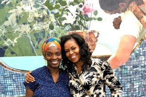 In November,U.S ex-First Lady, Michelle Obama visited Nigerian artist, Njideka Akunyili -Crosbyright in her studio